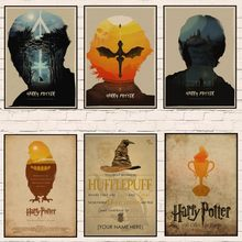 Harry Potter Art Printed Movie Retro Poster Home Decor Room Decorative Painting Vintage Wall Picture 1006(China)