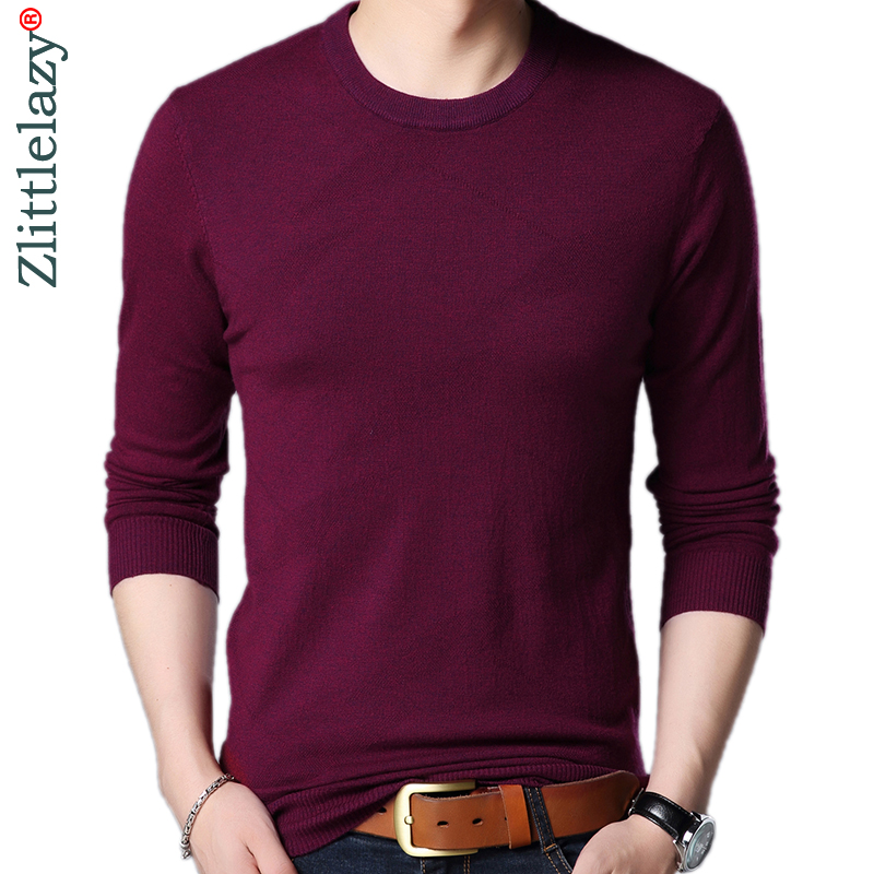 2019 Brand Designer Pullover Solid Men Sweater Dress Jersey Knitted Sweaters Mens Wear Slim Fit Knitwear Fashion Clothing 3107