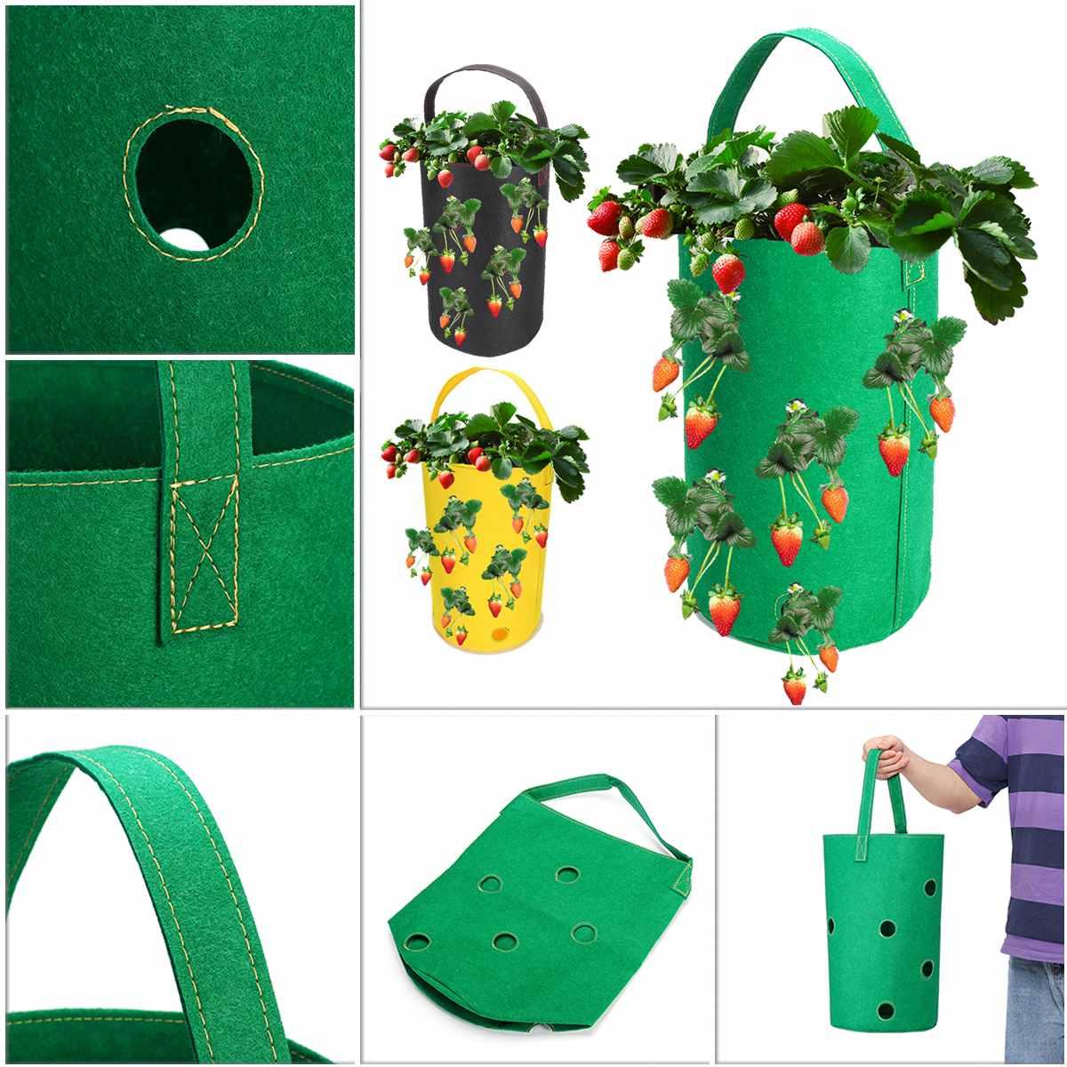 Висячая фетровая сумка для растений клубника ваниль мешки для посадки красоты мешки для сада горшечные Садовые принадлежности