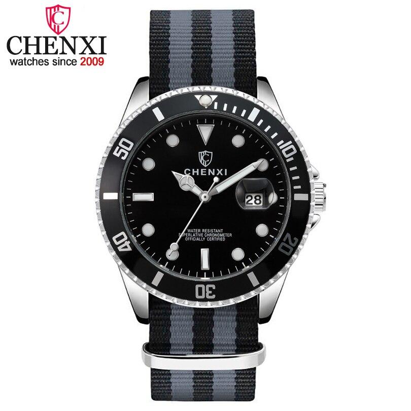 CHENXI Men's Fashion Nylon Strap Watches Top Brand Luxury Wristwatch For Male  Clock Quartz Watch Waterproof Relogio Masculino|Quartz Watches| |  - title=