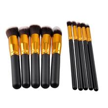 10pcs/set Professional Eye Cosmetic Brush Kit SGM Black Gold Black Silver Makeup Brush Hot Sale Meke up Tool Home use For women