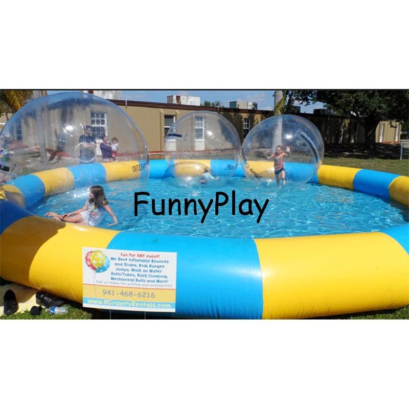 Grande piscine gonflable, piscine gonflable en plein air usage commercial PVC Ronde Intex Piscines, Jeu De L'eau Piscines