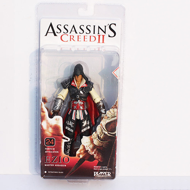 NECA Assassin Creed II 18cm Ezio Master Assassin PVC Model Toys Figure Collection Gifts for children Free Shipping pc assassin s creed unity guillotine edition