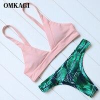 OMKAGI Brand Newest Swimsuit Swimwear Women S Swimming Bathing Suit Beachwear Bikinis Set Sexy Push Up