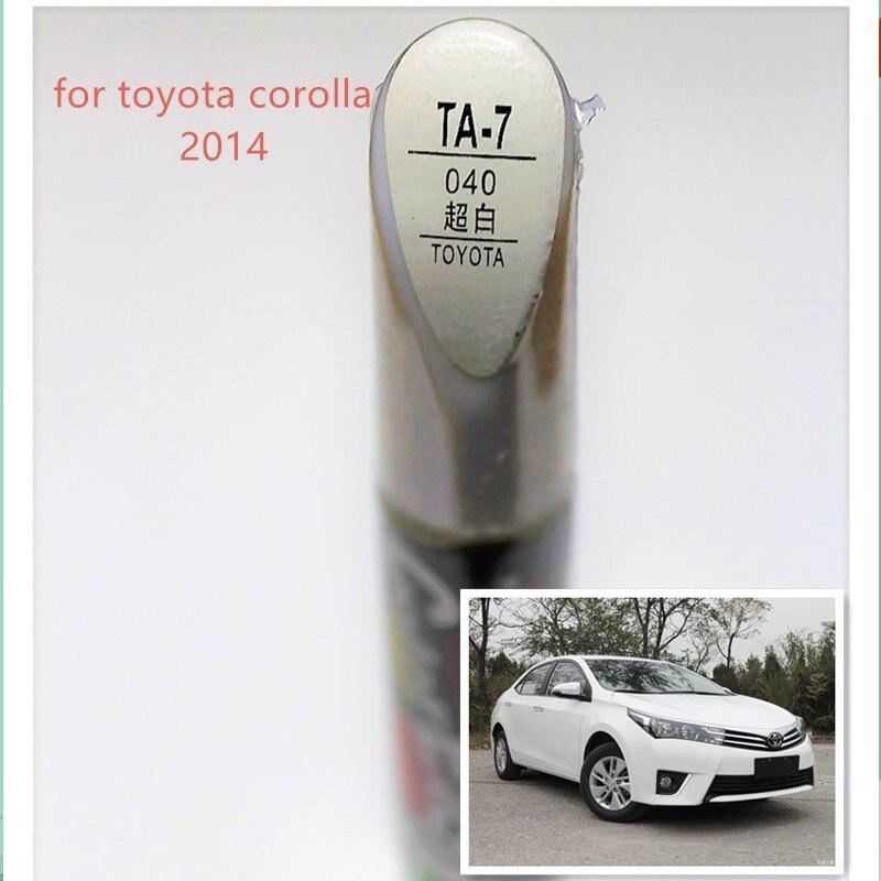 Car scratch repair pen, auto paint pen red color for Toyota Corolla 2014-2018