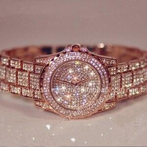 Image 2 - Роскошные женские часы, модные женские Стразы, часы с австрийским кристаллом, керамические часы, женские кварцевые наручные часы, женские часы под платье