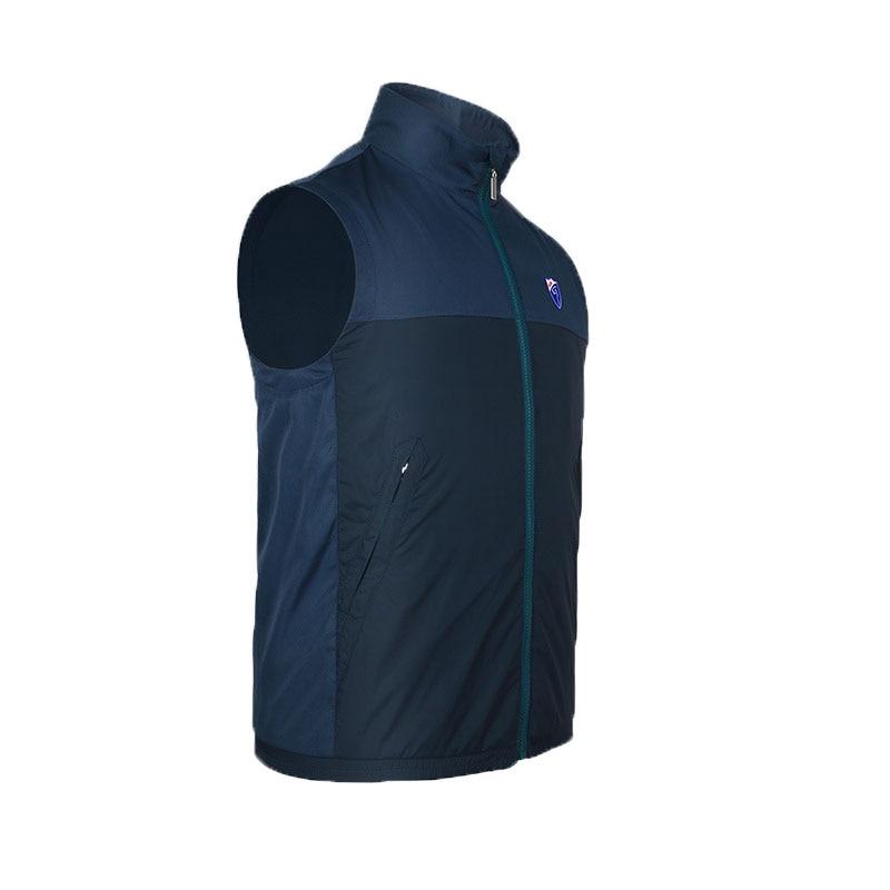 Для мужчин гольф куртка без рукавов на молнии жилет ветрозащитный