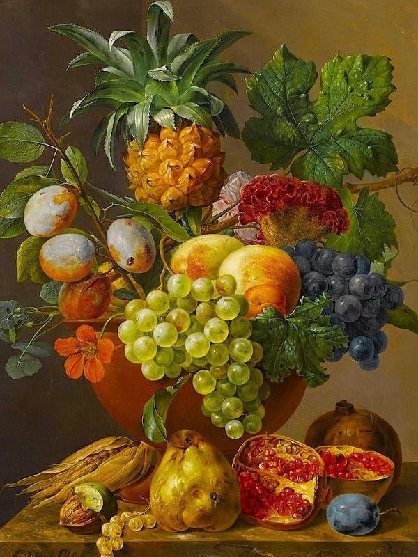 Cesto di frutta fai da te pittura a olio digitale dai for Cesto di frutta disegno