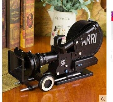 Fer forgé film caméra vidéo caméra modèle vêtements boutique affiche doux ornement armoire à vin ornements ménage maison artisanat Art
