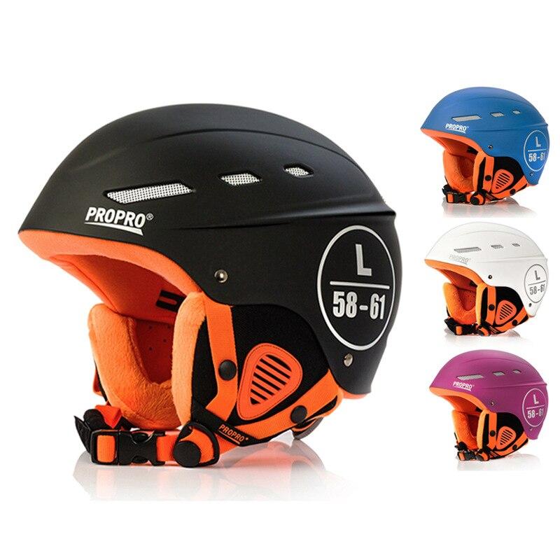 Casque de ski adulte en plein air casque de ski hommes et femmes snowboard casque globale die lumière coupe-vent équipement de protection pour le sport de neige helme