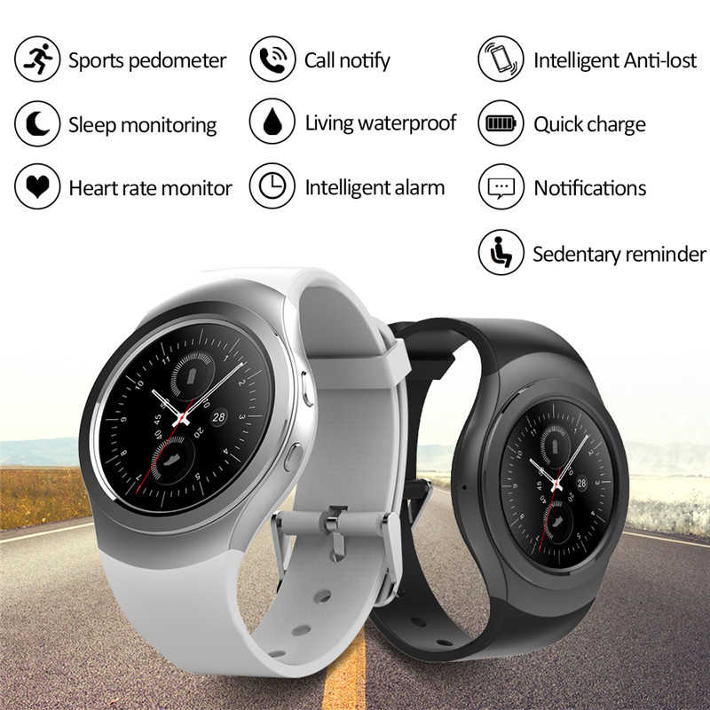 Bluetooth Smartwatch AS2 XOAY ỐP VIỀN Đồng Hồ dành cho IOS Android Smart Watch heartrate cho Samsung Gear S3 đồng hồ HUAWEI Watch 2 KW88 DZ09