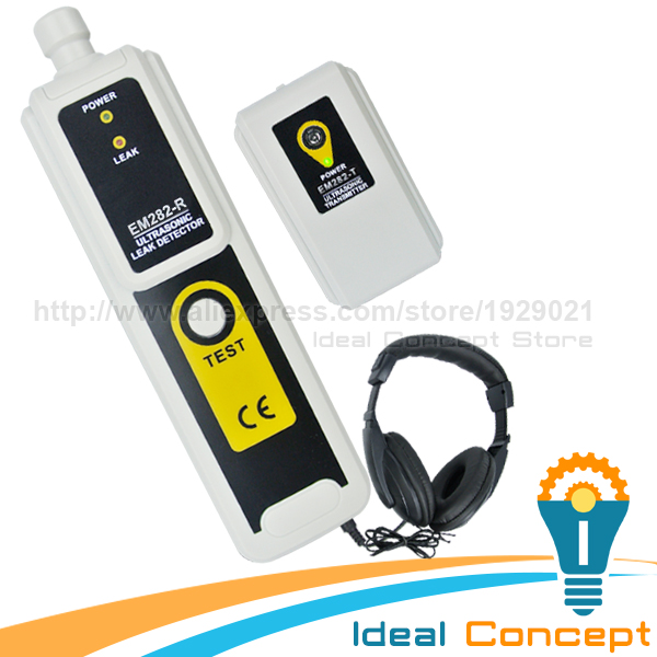 Air Water Dust Ultrasonic Leak Detector Receiver Transmitter Pressure Vaccum ultrasonic leak detector 40khz ultrasonic transmitter reliable detection gas leak detector led indicator all sun em282