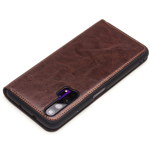 Image 3 - QIALINO יוקרה אמיתי עור Flip Case עבור Huawei Honor 20 טהור בעבודת יד כיסוי עם כרטיס חריץ לכבוד 20 פרו 6.26 אינץ