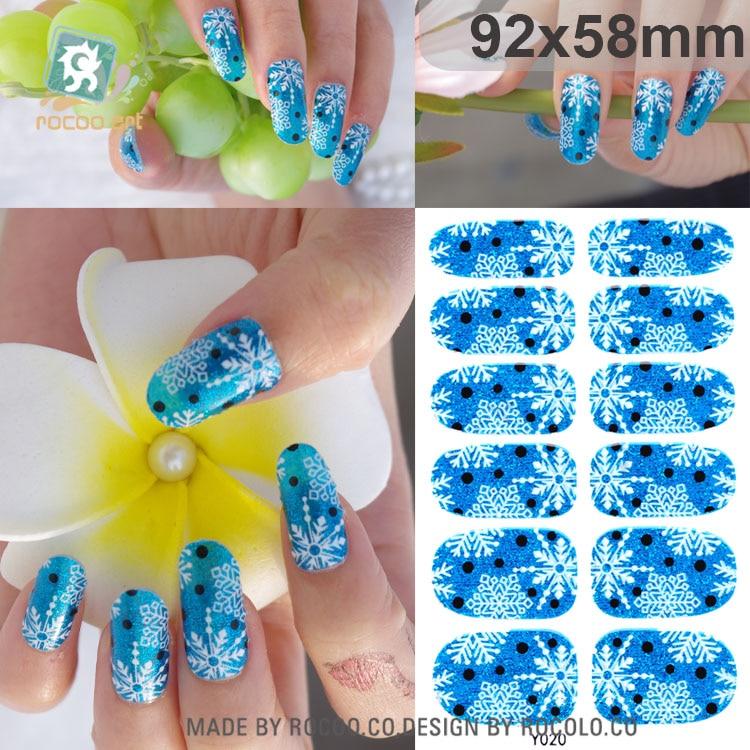 ✓Rocooart Y5001-5020 Multi Color Nails Acrylic Uv Gel Nail Art Foil ...