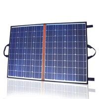 18V 100w 110w solar panel foldable Portable charger 12v 24V 10A controller battery power bank outdoor solar Panels placa blanket