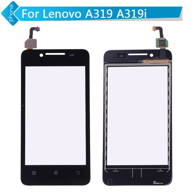 Black For Lenovo A319 A319i Touch Screen Digitizer Glass with Logo