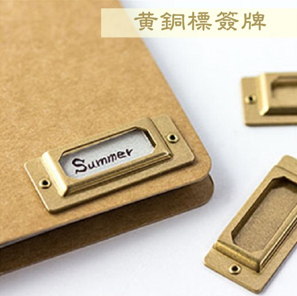 Brass Index Label For Travelers Notebook  Accessories  Bookmarks