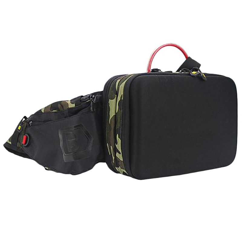 Multifunctional Portable Fishing Waist Tackle Bag Moveable Oxford Cloth Crossbody Bag With Lure Box Storage Fishing Supplies Fishing Bags     - title=
