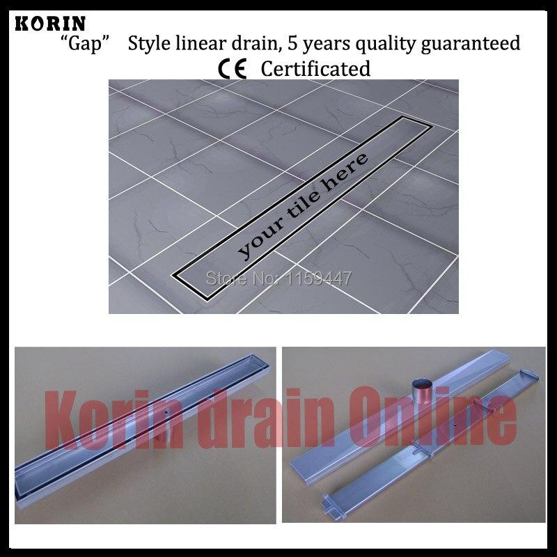 Drain de douche linéaire 600 en acier inoxydable 304mm, Drain Vertical, déchets de sol, drain de sol Long, canal de douche