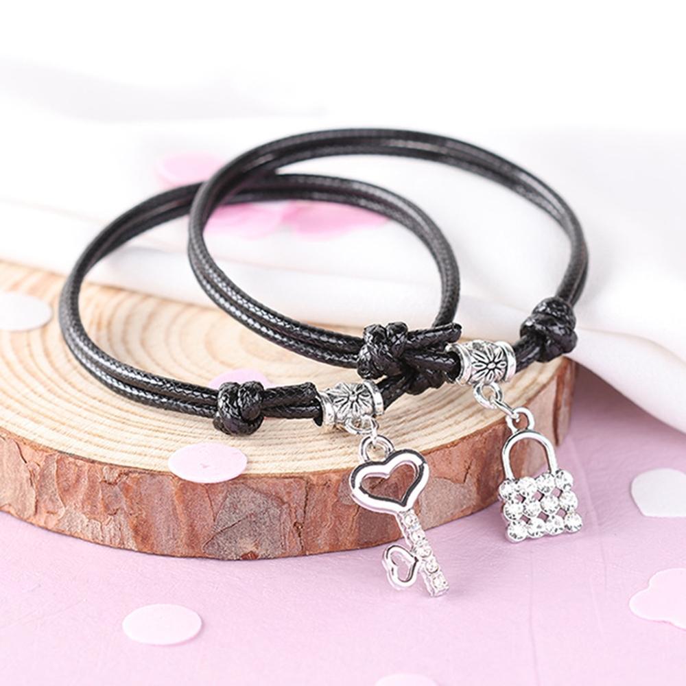 Korean Fashion Couple Bracelets Men Women Students Hand Jewelry Woven Charm Girlfriends