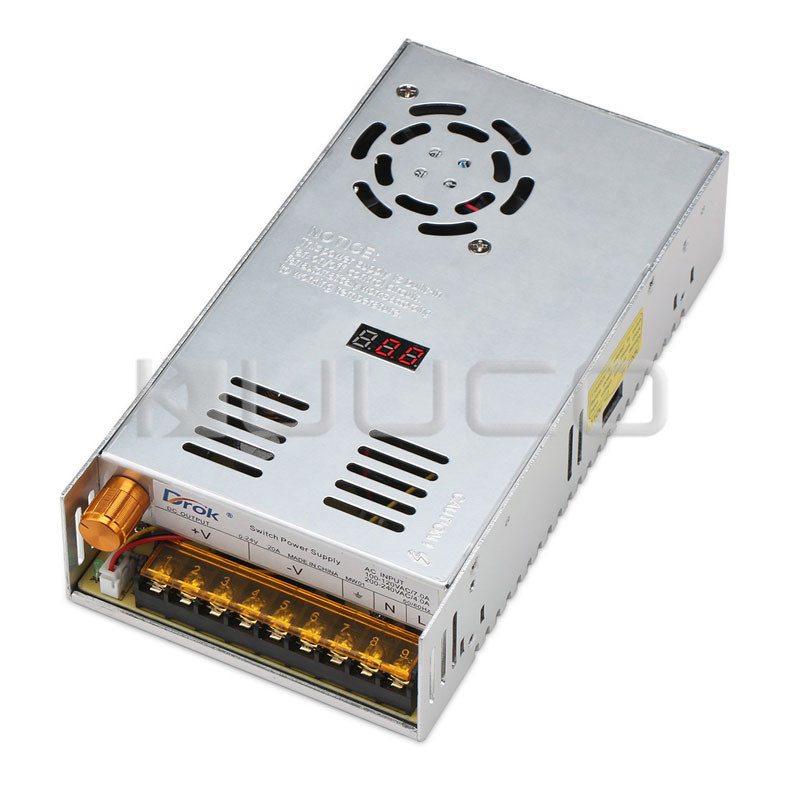 480W Digital Switching Power Supply AC 110 ~ 220V to DC 0 ~ 24V 20A Adjustable Voltage Regulator DC 12V 24V Driver/Adapter 2 led magnifier