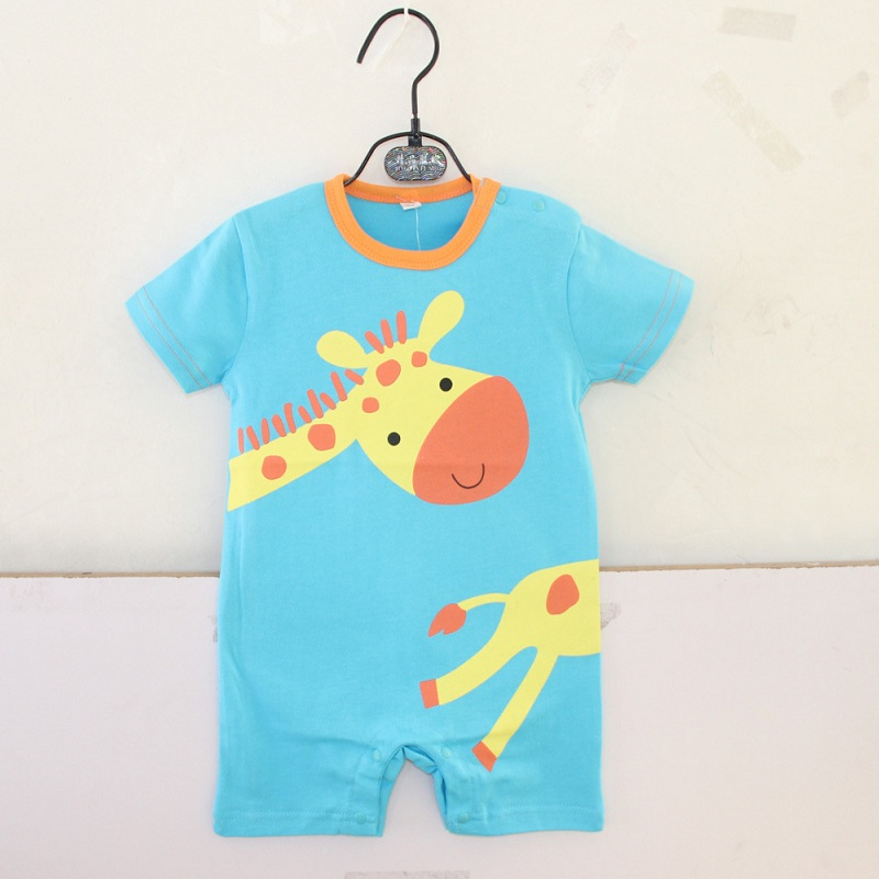2017 Summer Baby Boy Clothes Cotton Cartoon Animal Baby Romper Giraffe Clothing For Newborns Infantil Overall Baby Boy Clothing clearance 2pcs set baby boy clothes cartoon pattern baby clothing sets summer black white top pant for newborns bebk giyim