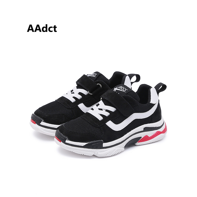 AAdct 2018 running sports children shoes sneakers Mesh breathing girls shoes new fashion student boys shoes