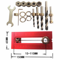 6/8/10/12/15mm Flat head Cross oblique screw hole puncher Locator Drill Bits Set Guide Locator Jig woodworkingJoinery System Kit