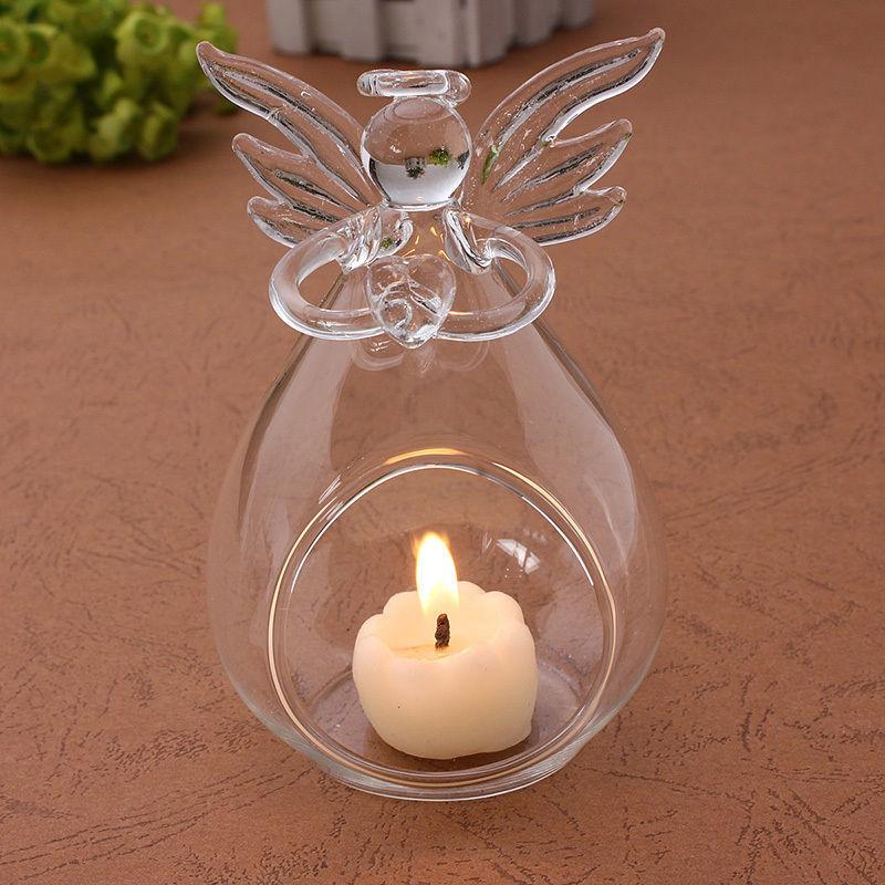 2016 Hot Angel Glass Crystal Hanging Tea Light Candle