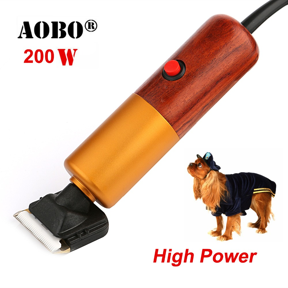 2019 200W High Power Professional Dog Hair Trimmer Grooming Pets Animals Cat High Quality Clipper Pets Haircut Shaver Machine