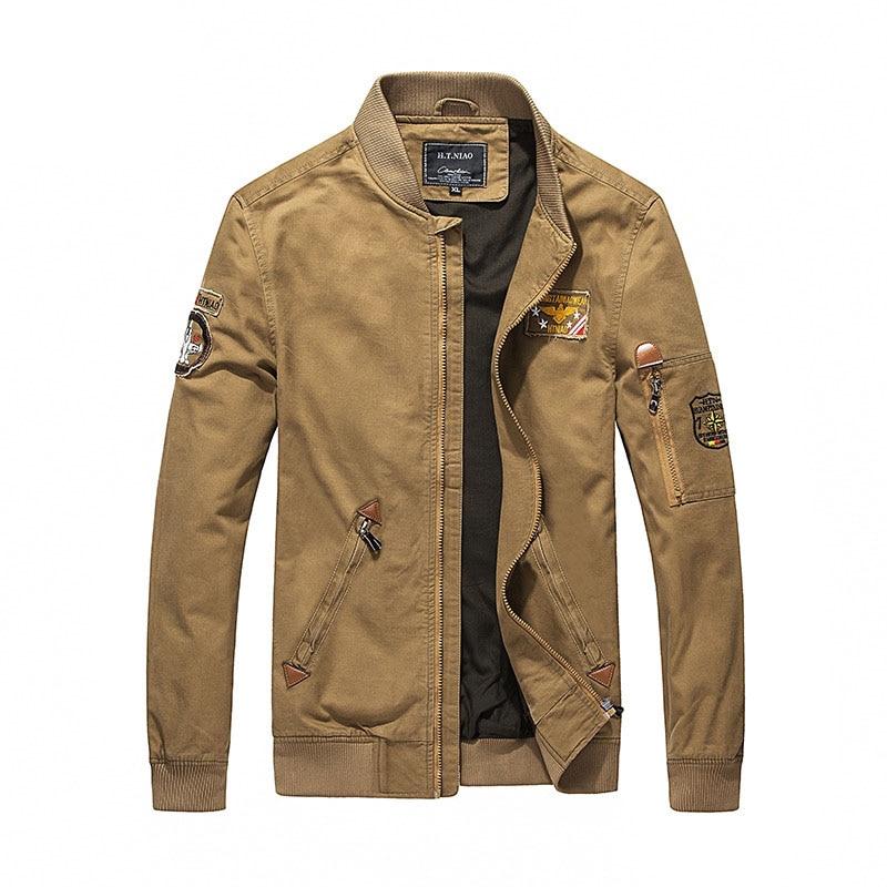 Veste Pour Militaire Concepteur Mode 100 Stand C20f9930 Nouveau La Manteau De Plus Coton kaki Hommes Noir army 4xl Blouson Taille Green Collier Broderie wqaddIfx