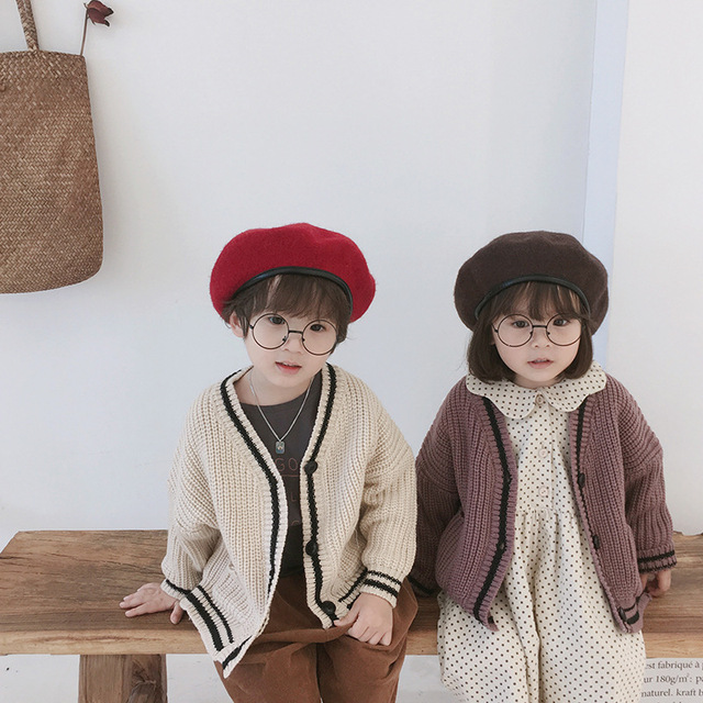 8ad6d3148be8 Autumn winter Korean style boys and girls sweaters cardigan children ...