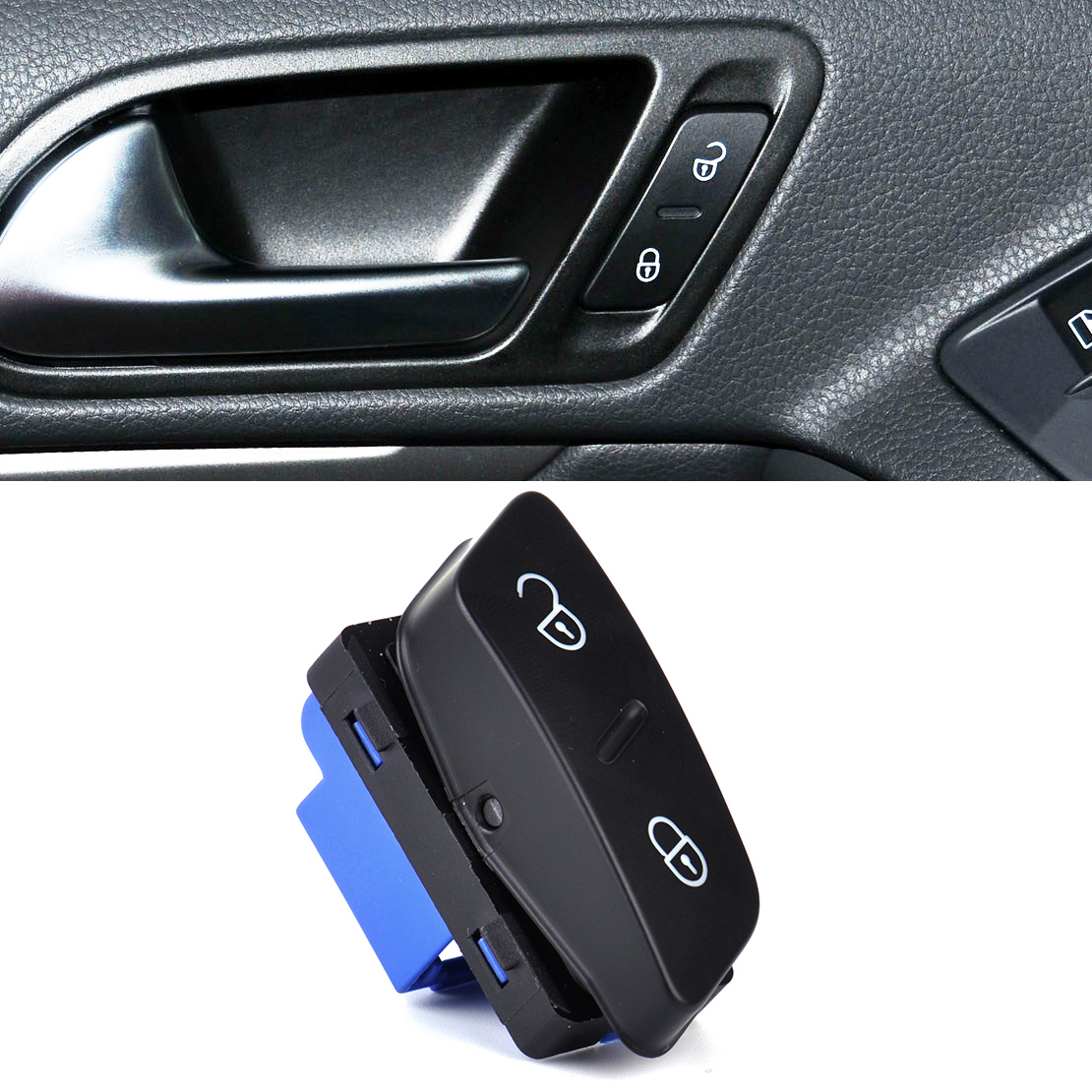 CITALL Drivers Side Central Door Lock Switch Button fit for VW Jetta Golf GTI MK5 Tiguan 1K0962125B Only Left Hand Drive