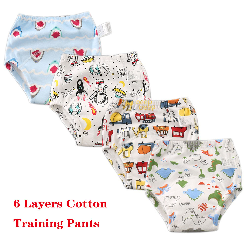 Baby Training Pants Reusable Cloth Diaper Nappies Cotton Newborn Infant Underwear Shorts Waterproof Baby Potty Training Panties