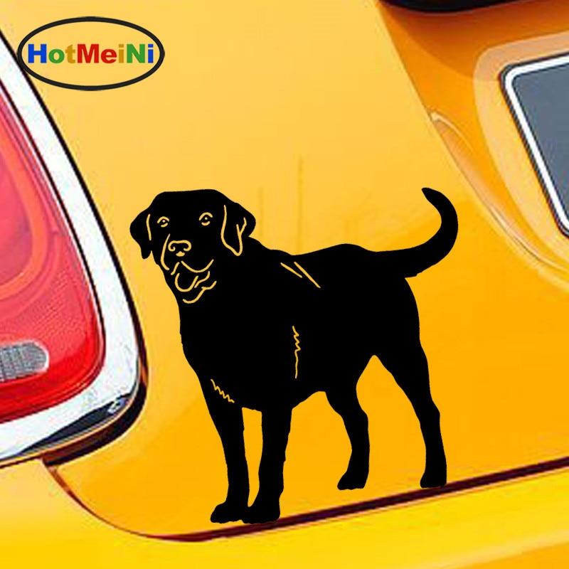 HotMeiNi 12.2*12.8CM 10 Color Cute Family Pet Animal Labrador Retriever Dog Car Cover Scratch Stickers Car Decorative Decals japan imports midori planner calendar decorative stickers cute animal 5pcs