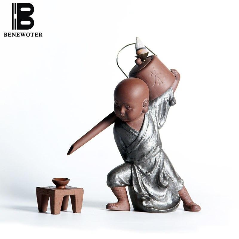(kann Als Tee Filter) Chinesische Vintage Keramik Keramik Kung Fu Mönch Rückfluss Weihrauch Brenner | Mönch Figuren Mit Teekanne Ornament Ein Unbestimmt Neues Erscheinungsbild GewäHrleisten
