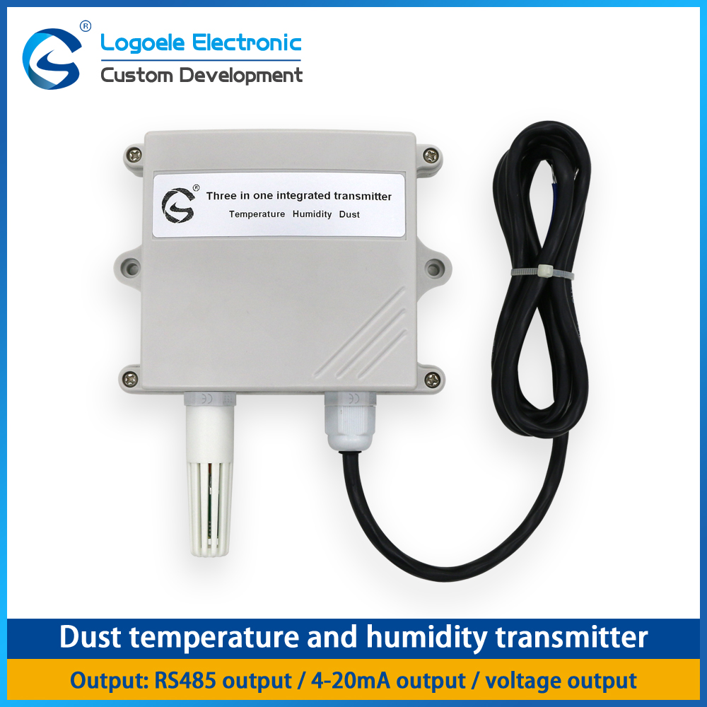 High quality Laser dust, temperature and humidity sensor  three-in-one transmitter RS485 output control c lin tdk0302 temperature and humidity control with sensor intelligent ac220v