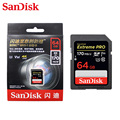 SanDisk SD карта памяти  класс 10 U3  класс 10  64 ГБ  128 ГБ  256 ГБ  V30  макс. скорость чтения  4K