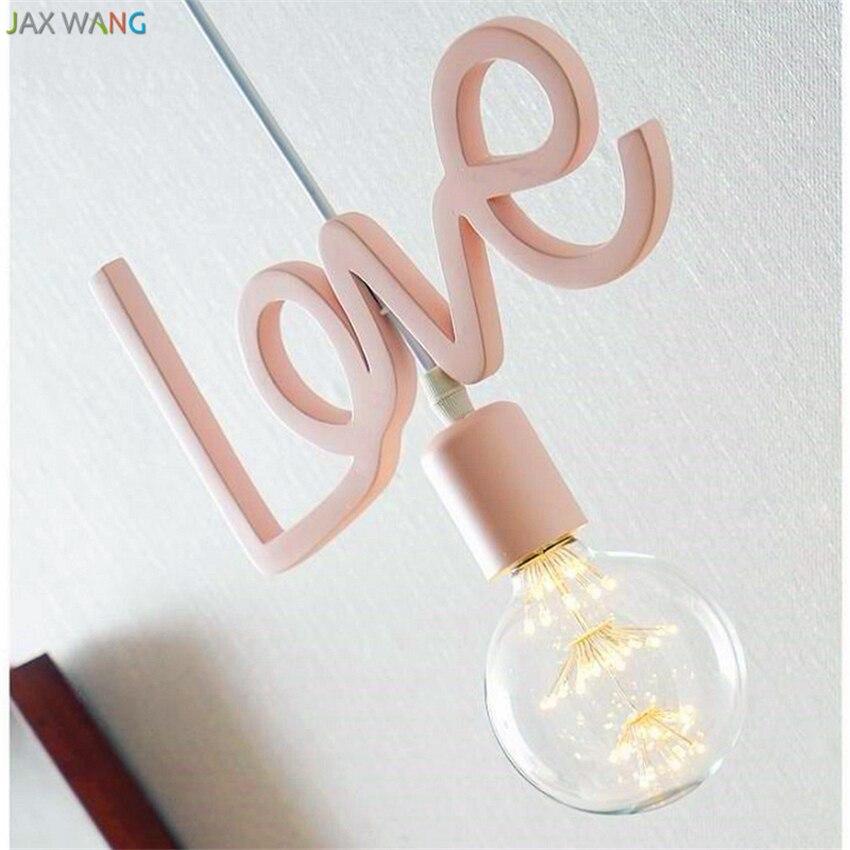 Modern Lovely Romantic Pendant Lights Personalized Creative Pendant Lamp Children Princess Room Balcony Hanging Light Fixtures
