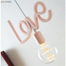 Modern Lovely Romantic Pendant Lights Personalized Creative Lamp Children Princess Room Balcony Hanging Light Fixtures