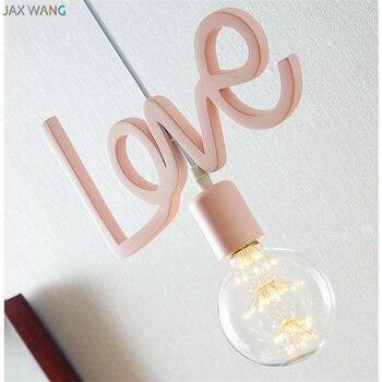 Modern Lovely Romantic Pendant Lights Personalized Creative Lamp Children Princess Room Balcony Hanging Light Fixtures