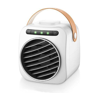 Usb Mini Portable Air Conditioner Humidifier Purifier Desktop Air Cooling Fan Led Light Gear Display Air Cooler Fan For Office