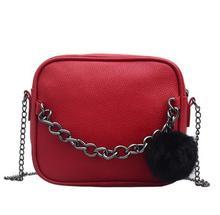 Chain Design Women Crossbody bag small Square leather Messenger bag shoulder bag handbags cross body bag недорого