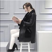 New Arrive Winter Thicking For Coat Women's Long Merino Leather Fur Coat Fashion Female Fur Coat