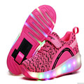 Child Roller Shoes With Wheels Kids Sneaker with Wheel Luminous Shoes for Boys Girls Men Women Shoes Hot 27-43