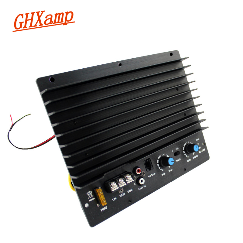 GHXAMP 200W Car Subwoofer Amplifier C5198+A1941 Power Amplifier Tube Auto Mono 10 inch 12 inch Woofer Bass Strong 12V 12v high power 120w 8 inch 10 inch 12 inch subwoofer car core subwoofer amplifier board pure tone