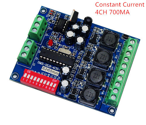 best price 1 pcs DC5-36V Constant Current 700ma 4CH RGBW dmx Controller DMX512 decoder For led strip