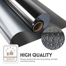 Window Self-adhesive Film One Way Mirror  Glass Cling Vinyl Films Heat Control Anti UV Tint for Home Office