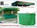 Frete grátis balanço ao ar livre cadeira & rede dossel telhado substituição + tampa de armazenamento -- verde escuro 190 cm