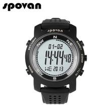 SPOVAN Relógios Esportivos Da Marca para Homens Homens Relógio Digital LED Relógio Eletrônico Relógios de Pulso Bússola/3D pedômetro/50 m À Prova D' Água B +